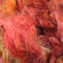 Hand Dyed Baby Camel Silk Fiber from Lisa Souza